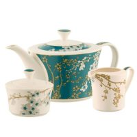 Belleek Living Bellevue Teapot, sugar and Cream Set